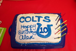Alex lives and breathes the Colts!