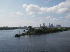 Our view of Tampa as we left port