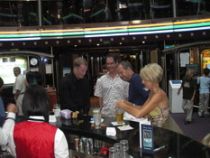 KC, Mark, Mike and Mary Beth at the bar before dinner