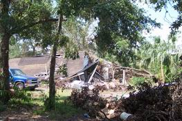 This is an old house that was crushed by a tree - just 3 miles away!