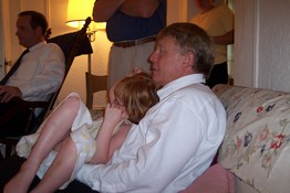 Ah, Kelsey's safe in her Poppy's arms (Mark's Uncle Jim)