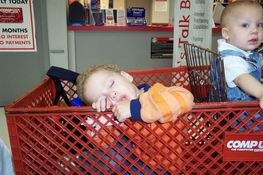 Nathan shopped til he dropped!