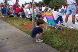 Patch watching the parade - ain't he cute!