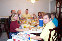 The whole crew - what a feast!