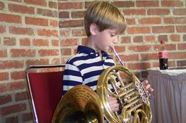 Alex actually played the french horn pretty well