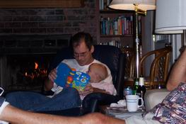 Mark reading to Cate