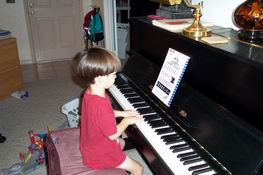 Every time he plays the piano, I get all warm and fuzzy!