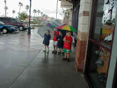 "Nathan, Alex, Carter and Patrick ""Singing in the Rain!"""