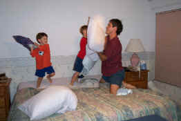 Playing Pillows Fight