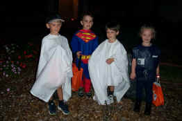 We went trick-or-treating with Jacob and Clara - we felt VERY safe with Superman and a Police Woman with us!